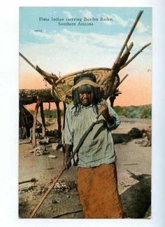 Pima Indian Carrying Burden Basket Southern Arizona