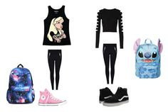 """Untitled #121"" by georgia-leonard on Polyvore featuring Disney, Cushnie Et Ochs, Vans and Converse"