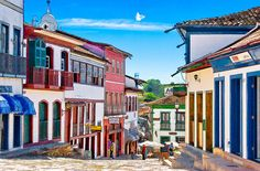 Diamantina    Brazil, Minas, Diamantina, 18th century houses - Digital Painting Series