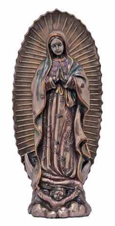 "Our Lady Of Guadalupe Statue From The Veronese Collection Measures 8"" Tall and finished in a rich faux bronze to give the look and feel of real metal. A very high quality gift sure to bring blessings"