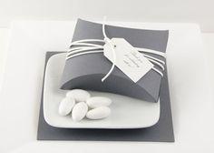 Flintstone Wedding Favor Boxes- Dark Gray Favor Boxes - Dark Grey Favor Containers - Gift Boxes via Etsy