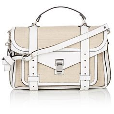 Proenza Schouler Women's PS1 Medium Shoulder Bag ($1,555) ❤ liked on Polyvore featuring bags, handbags, shoulder bags, nude, leather shoulder strap handbags, leather shoulder bag, white leather purse, leather handbags and leather purse