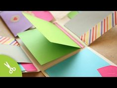 "Album Scrapbook ""Fold"" // idea regalo - YouTube This is in Spanish, but is an excellent and fast-paced video to quickly show you how to make this little album.  There are other videos as well.  Measurements are in centimeters."