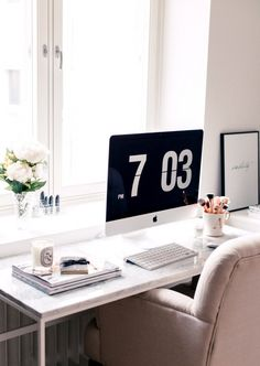 New in Home Office - Alexa Dagmar Office Desk, Home Office, Lets Stay Home, Desk Space, Own Home, New Homes, Furniture, Spaces, Live