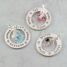 Family Birthstone Tree  Personalized Hand Stamped by ABDesigns, $32.00