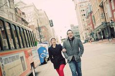 Read all about Sabrina & David's kooky Monster Chase Around DC engagement on Poptastic Bride. Photos by Maggie Winters.