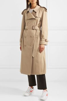 Burberry | The Westminster Long cotton-gabardine trench coat | NET-A-PORTER.COM