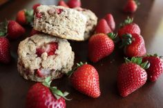 .: Whole Wheat Strawberry Scones & Blackberry-Lemon Cream