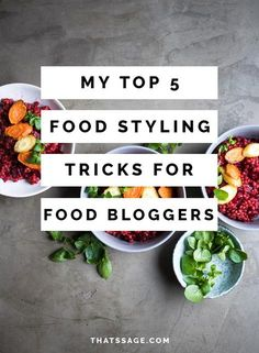 Knowing where to start when it comes to food styling is probably one of the hardest areas of food photography. Here are my top five food styling tricks that I wish I'd known when I started food photography, #foodphotography #foodstyling #foodblogger #foodblog