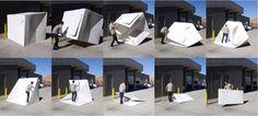 Estruturas dobráveis e modulares transformam-se em casas temporárias para moradores de rua bdebd7ba-0beb-45ae-a55d-e2fb4e5863d2