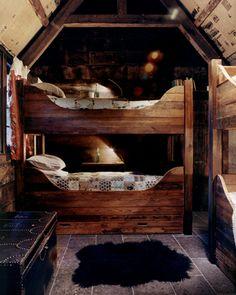 cozy cabin bunk room
