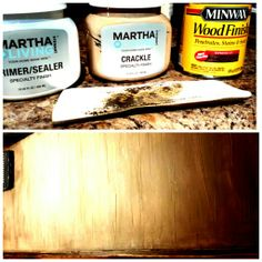 If you like rustic...You'll love these 3 products and my simple 4 step process.  STEPS- 1. Primer/Sealer...dry 2. Apply Crackel with a putty knife or paint spatula...dry completely...You'll see all the neat crackle patterns when its done 3. Sand edges if desired (gives that imperfect rustic look 4. Apply stain with a foam brush and/or old rag to achieve the desired color  This was my 1st attempt. Next time I may try rolling over the crackle with a foam roller while it's still wet to get a smoother (no lines) finish. If you like the lines for added character, the small putty spatula works perfect on most (if not all) projects.