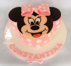 Minnie Mouse cake Pink  1st birthday Jade's Iced Jems