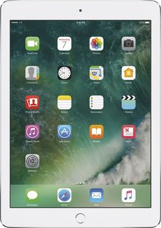 Apple - iPad Air 2 with Wi-Fi + Cellular - 128GB (At&t) - Silver