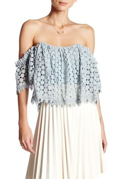 Amelia Crochet Lace Cropped Blouse by Tularosa on @nordstrom_rack
