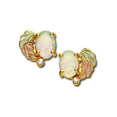 Landstroms Black Hills Gold Opal Diamond Earrings with Opal - 01387 via Polyvore