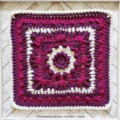 Crochet Motif Patterns, Crochet Blocks, Granny Square Crochet Pattern, Square Patterns, Afghan Crochet Patterns, Crochet Squares, Crochet Stitches, Granny Squares, Crochet Granny