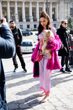 Can we officially say pups are a French girls' fave accessory?