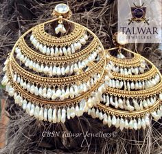 Stunning gradient Chand Balis by CBSN Talwar Jewellers New Delhi at unbeatable prices! Break away from the typical! Delhi India, New Delhi, Talwar Jewellers, Ear Rings, Pendant Set, Jewelry Patterns, Jewelery, Bangles, Ornaments