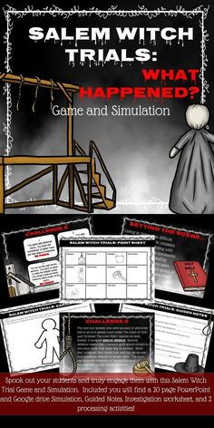 Salem Witch Trials Games and Simulation