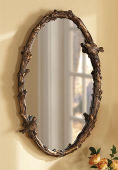 Just found this Decorative Bird Mirror - Oval Bird-and-Vine Mirror -- Orvis on Orvis.com!
