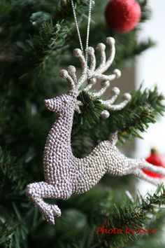 / reindeer christmas ornament /