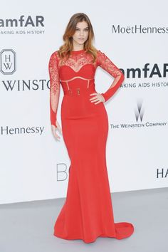 Barbara Palvin. See what all the stars wore at the Cannes amfAR gala.