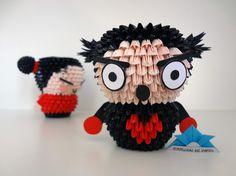 Origami 3D - Garu Samurai, Instruções Origami, Quilling Art, Paper Art, Christmas Ornaments, Holiday Decor, Cute, Crafts, Diy