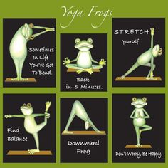 Yoga Frogs....