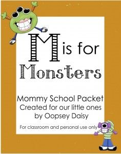 M is for Monsters {Free Printable} #m #monsters