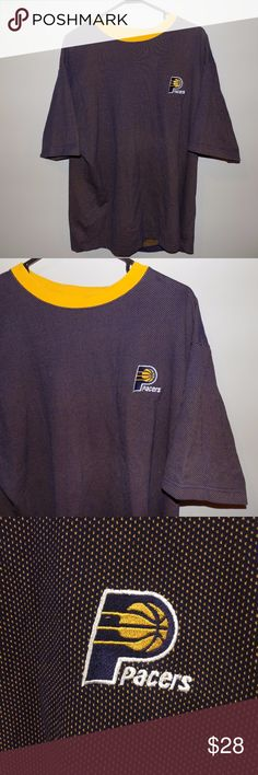 Vintage Indiana Pacers S/S Crewneck T-Shirt Vintage Indiana Pacers S/S Crewneck T-Shirt. In perfect condition, zero flaws or stains! Hard to tell if this shirt is just a heavy t-shirt or a short sleeve crewneck because it is a thicker material, but either way it is a super cool piece! Very cool design for the shirt and a nice, simple embroidered logo on the front of the shirt. Vintage Shirts Tees - Short Sleeve