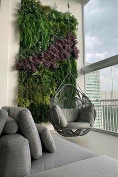 Small Balcony Design, Small Balcony Garden, Vertical Garden Design, Small Balcony Decor, Terrace Design, House Plants Decor, Plant Decor, Plant Wall, Apartment Balcony Decorating