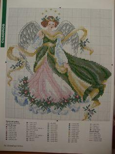 Gallery.ru / Фото #45 - Гоблени ^^ - Evgenia49 Cross Stitch Angels, Cross Stitch Needles, Cross Stitch Art, Cross Stitch Designs, Cross Stitching, Cross Stitch Embroidery, Christmas Cross, Christmas Angels, Pach Aplique