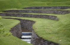 Arne Maynard Garden Design - A recently completed project - a walled stream and amphitheatre at Arne Maynard's home Allt-y-bela Landscape Architecture, Landscape Design, Architecture Design, Garden Design, Modern Landscaping, Garden Landscaping, Dry Stone, Garden Park, Water Garden