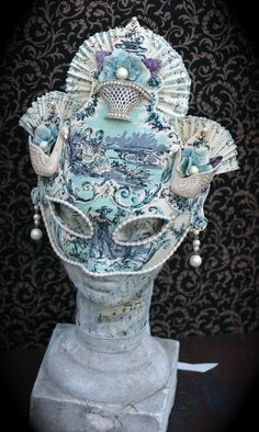 Dances Of Vice Mask-Swan Lake in Blue- Sweet Ruin. $175.00, via Etsy.