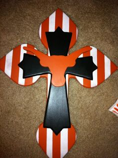 Large Longhorn Wood Cross by SignsBYDebbieHess on Etsy, $29.99