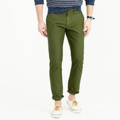 Garment-dyed cotton oxford pant in 484 fit