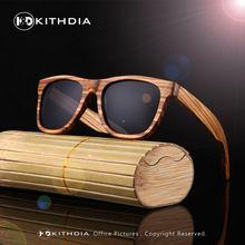 3736f86a98 Kithdia new 100% cebra real hecho a mano de bambú de madera gafas de sol