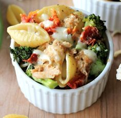 Broccoli Chicken Mac and Cheese with Sundried Tomato