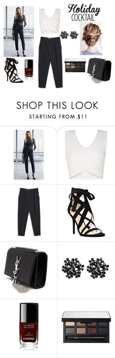 """Holiday cocktail"" by cludysskystyle on Polyvore featuring BCBGMAXAZRIA, MANGO, Nine West, Yves Saint Laurent, Chanel and NARS Cosmetics"