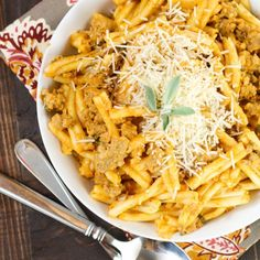 Sausage, Sage and Pumpkin Pasta- comfort food with a seasonal twist!