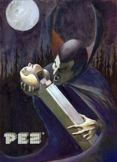 Pez ad...... from my new Board.   It is getting closer to Hallowe'en, then u know what! I love this ad.