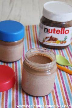 Yogures de Nutella. Receta paso a paso. - Cocinando entre Olivos