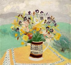 Winifred Nicholson - I love that the flowers are in a mocha mug!