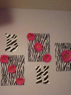 Zebra rainbow stars wallpaper border wall decals for teen for Cute zebra bedroom ideas