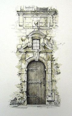 I love travel sketches. Reminds me of a sketch trip in the south of France. Grezels, Lot, France: