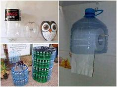 manualidades caseras hechas con botellas de plastico