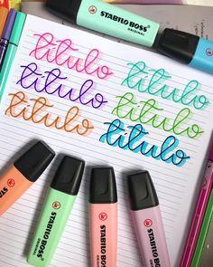 That&Apos; Bullet Journal Titles, Journal Fonts, Bullet Journal School, Book Journal, Hand Lettering Alphabet, Doodle Lettering, Filofax, Stabilo Boss, Lettering Tutorial