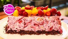 Eis-Torte ohne Backen - Rezept von Eat Clean - Burcu´s Kitchen Ice Ice Baby, Food Porn, Raspberry, Clean Eating, Baking, Fruit, Dinner, Cake, Recipes