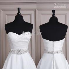 Wholesale Bridal Sashes & Belts - Buy 2014 Handmade Satin Crystal Beaded Bridal Wedding Dress Sashes Belts Wedding Accessories, $39.0   DHgate